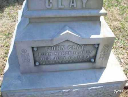 CLAY, JOHN - Montgomery County, Kansas | JOHN CLAY - Kansas Gravestone Photos