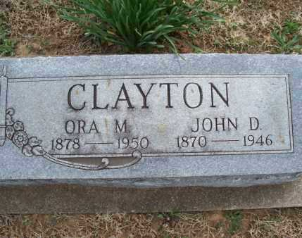 CLAYTON, JOHN D - Montgomery County, Kansas | JOHN D CLAYTON - Kansas Gravestone Photos