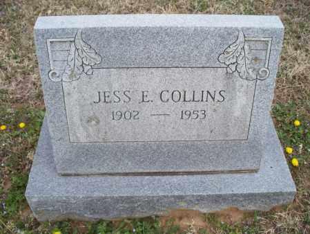 COLLINS, JESS E - Montgomery County, Kansas   JESS E COLLINS - Kansas Gravestone Photos