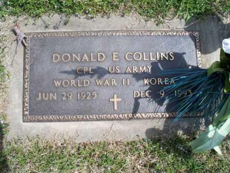 COLLINS, DONALD E   (VETERAN 2 WARS) - Montgomery County, Kansas | DONALD E   (VETERAN 2 WARS) COLLINS - Kansas Gravestone Photos