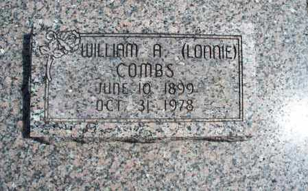 """COMBS, WILLIAM A   """"LONNIE"""" - Montgomery County, Kansas   WILLIAM A   """"LONNIE"""" COMBS - Kansas Gravestone Photos"""