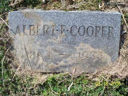 COOPER, ALBERT E  - Montgomery County, Kansas | ALBERT E  COOPER - Kansas Gravestone Photos