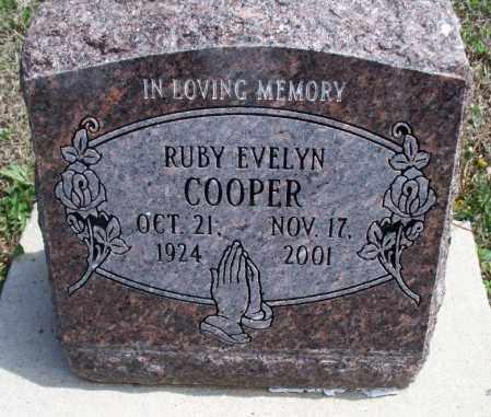 COOPER, RUBY EVELYN - Montgomery County, Kansas | RUBY EVELYN COOPER - Kansas Gravestone Photos