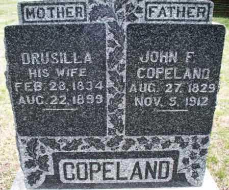 HOLLAND COPELAND, DRUSILLA - Montgomery County, Kansas | DRUSILLA HOLLAND COPELAND - Kansas Gravestone Photos