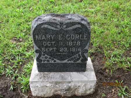 CORLE, MARY E - Montgomery County, Kansas   MARY E CORLE - Kansas Gravestone Photos