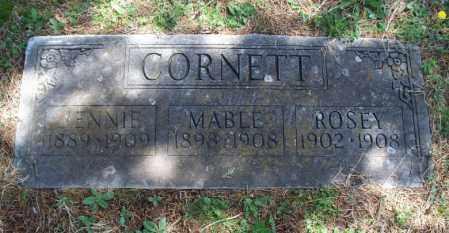 CORNETT, JENNIE - Montgomery County, Kansas   JENNIE CORNETT - Kansas Gravestone Photos