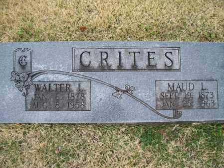 CRITES, WALTER L. - Montgomery County, Kansas | WALTER L. CRITES - Kansas Gravestone Photos