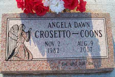 COONS, ANGELA DAWN - Montgomery County, Kansas | ANGELA DAWN COONS - Kansas Gravestone Photos