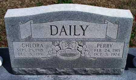 DAILY, PERRY - Montgomery County, Kansas   PERRY DAILY - Kansas Gravestone Photos