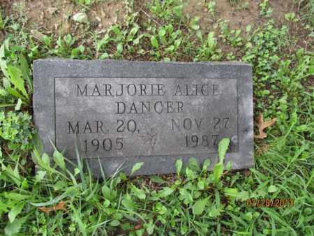 DANCER, MARJORIE ALICE - Montgomery County, Kansas   MARJORIE ALICE DANCER - Kansas Gravestone Photos