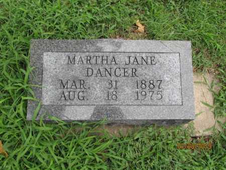 DANCER, MARTHA JANE - Montgomery County, Kansas   MARTHA JANE DANCER - Kansas Gravestone Photos