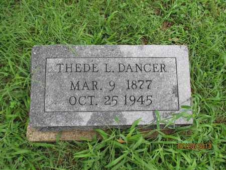 DANCER, THEDE L - Montgomery County, Kansas   THEDE L DANCER - Kansas Gravestone Photos