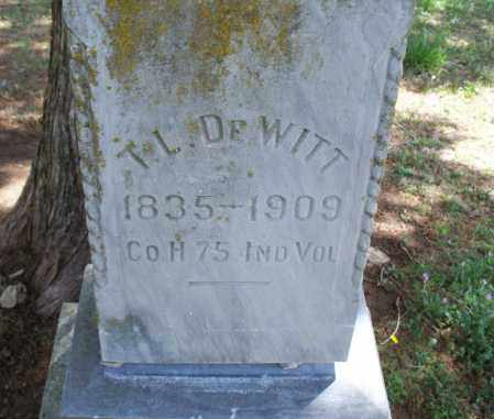 DEWITT, THOMAS L  (VETERAN UNION) - Montgomery County, Kansas   THOMAS L  (VETERAN UNION) DEWITT - Kansas Gravestone Photos