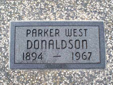 DONALDSON, PARKER WEST - Montgomery County, Kansas | PARKER WEST DONALDSON - Kansas Gravestone Photos