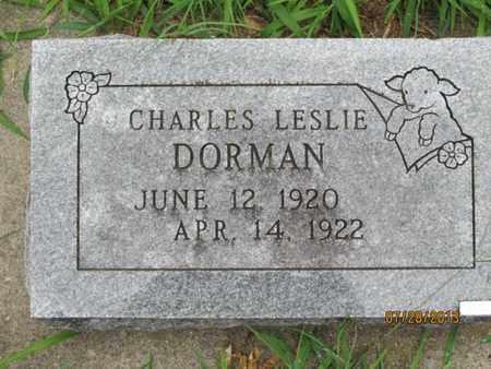 DORMAN, CHARLES LESLIE - Montgomery County, Kansas | CHARLES LESLIE DORMAN - Kansas Gravestone Photos