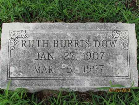 BURRIS DOW, RUTH - Montgomery County, Kansas | RUTH BURRIS DOW - Kansas Gravestone Photos