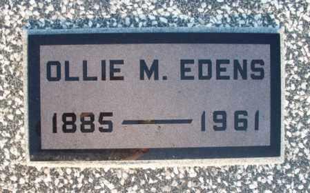 EDENS, OLLIE M - Montgomery County, Kansas | OLLIE M EDENS - Kansas Gravestone Photos
