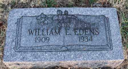 EDENS, WILLIAM E - Montgomery County, Kansas | WILLIAM E EDENS - Kansas Gravestone Photos
