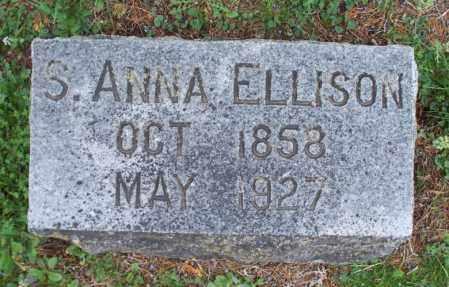 ELLISON, S  ANNA - Montgomery County, Kansas | S  ANNA ELLISON - Kansas Gravestone Photos