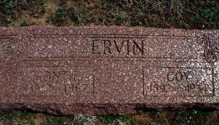 ERVIN, COY - Montgomery County, Kansas   COY ERVIN - Kansas Gravestone Photos