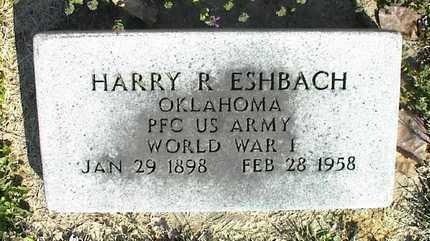 ESHBACH, HARRY R  (VETERAN WWI) - Montgomery County, Kansas | HARRY R  (VETERAN WWI) ESHBACH - Kansas Gravestone Photos