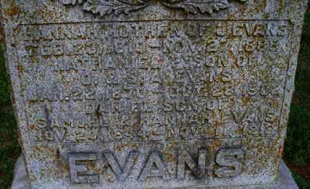 EVANS, HANNAH - Montgomery County, Kansas | HANNAH EVANS - Kansas Gravestone Photos