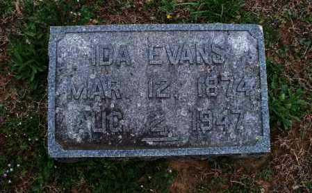 EVANS, IDA - Montgomery County, Kansas | IDA EVANS - Kansas Gravestone Photos