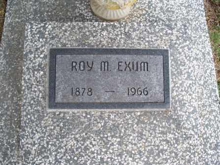 EXUM, ROY M - Montgomery County, Kansas | ROY M EXUM - Kansas Gravestone Photos