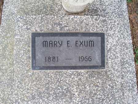 EXUM, MARY E - Montgomery County, Kansas | MARY E EXUM - Kansas Gravestone Photos