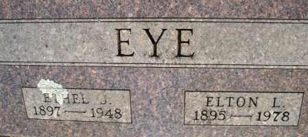 EYE, ELTON L - Montgomery County, Kansas | ELTON L EYE - Kansas Gravestone Photos