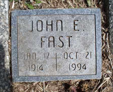 FAST, JOHN E - Montgomery County, Kansas | JOHN E FAST - Kansas Gravestone Photos