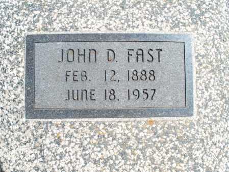 FAST, JOHN D. - Montgomery County, Kansas | JOHN D. FAST - Kansas Gravestone Photos