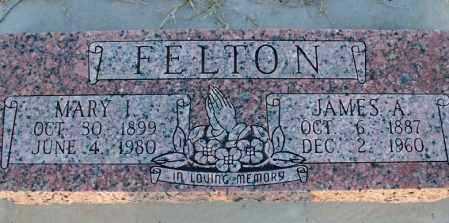 FELTON, MARY I - Montgomery County, Kansas | MARY I FELTON - Kansas Gravestone Photos
