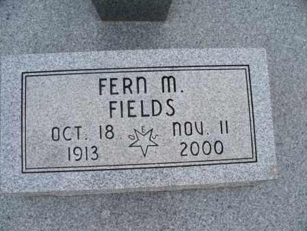 FIELDS, FERN M - Montgomery County, Kansas   FERN M FIELDS - Kansas Gravestone Photos