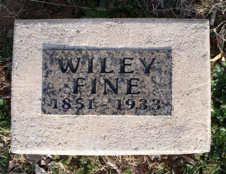 FINE, WILEY - Montgomery County, Kansas | WILEY FINE - Kansas Gravestone Photos