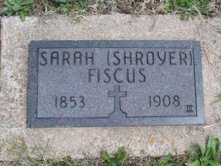 FISCUS, SARAH - Montgomery County, Kansas | SARAH FISCUS - Kansas Gravestone Photos