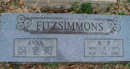 MOORE FITZSIMMONS, ANNA - Montgomery County, Kansas | ANNA MOORE FITZSIMMONS - Kansas Gravestone Photos