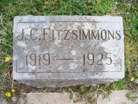 FITZSIMMONS, J C  - Montgomery County, Kansas | J C  FITZSIMMONS - Kansas Gravestone Photos