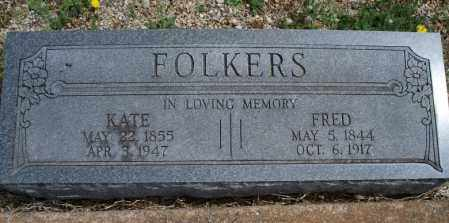 FOLKERS, FRED - Montgomery County, Kansas | FRED FOLKERS - Kansas Gravestone Photos
