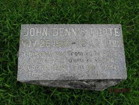 FOOTE, JOHN DENNIS, SR - Montgomery County, Kansas   JOHN DENNIS, SR FOOTE - Kansas Gravestone Photos