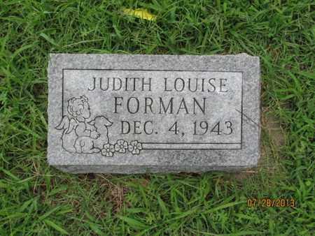 FORMAN, JUDITH LOUISE - Montgomery County, Kansas   JUDITH LOUISE FORMAN - Kansas Gravestone Photos
