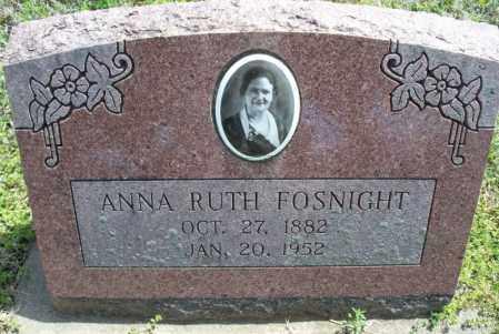 FOSNIGHT, ANNA RUTH - Montgomery County, Kansas | ANNA RUTH FOSNIGHT - Kansas Gravestone Photos
