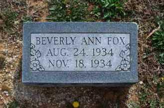 FOX, BEVERLY ANN - Montgomery County, Kansas | BEVERLY ANN FOX - Kansas Gravestone Photos