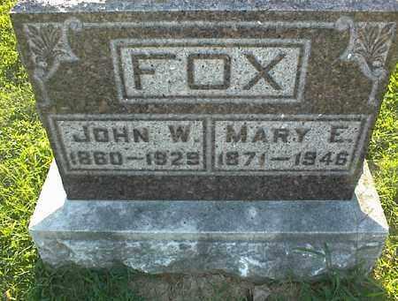 FOX, MARY E - Montgomery County, Kansas | MARY E FOX - Kansas Gravestone Photos