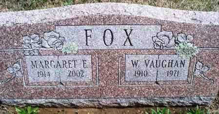 FOX, W  VAUGHAN - Montgomery County, Kansas | W  VAUGHAN FOX - Kansas Gravestone Photos
