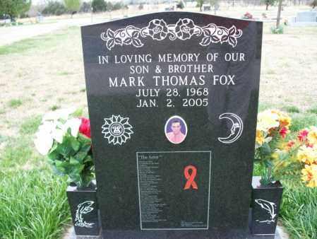 FOX, MARK THOMAS - Montgomery County, Kansas | MARK THOMAS FOX - Kansas Gravestone Photos