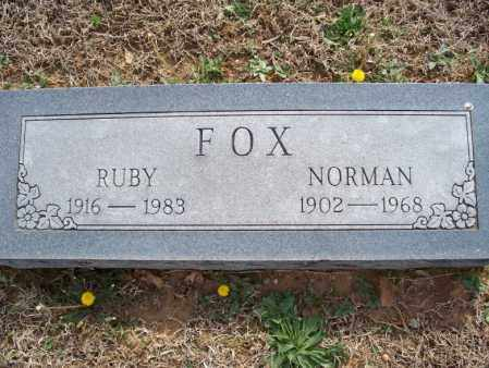 FOX, RUBY - Montgomery County, Kansas | RUBY FOX - Kansas Gravestone Photos