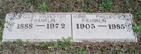 FRANKLIN, ANNIE - Montgomery County, Kansas   ANNIE FRANKLIN - Kansas Gravestone Photos