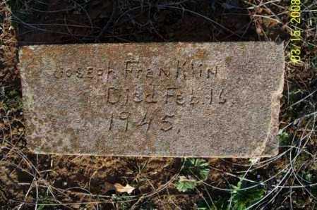 FRANKLIN, JOSEPH - Montgomery County, Kansas | JOSEPH FRANKLIN - Kansas Gravestone Photos