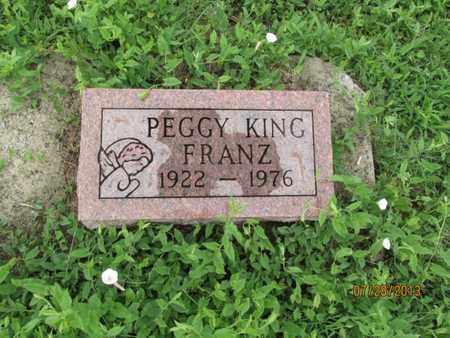 FRANZ, PEGGY - Montgomery County, Kansas   PEGGY FRANZ - Kansas Gravestone Photos